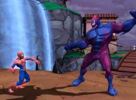 Spider-Man battles an enemy.