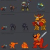 Character sprites from Thor: Bring the Thunder