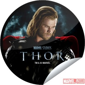 Thor movie sticker from GetGlue
