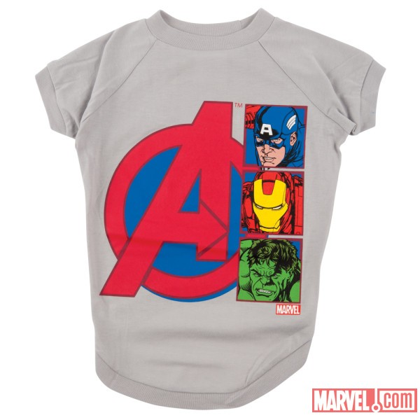 Avengers White Dog Tee by Fetch availabe at PetSmart