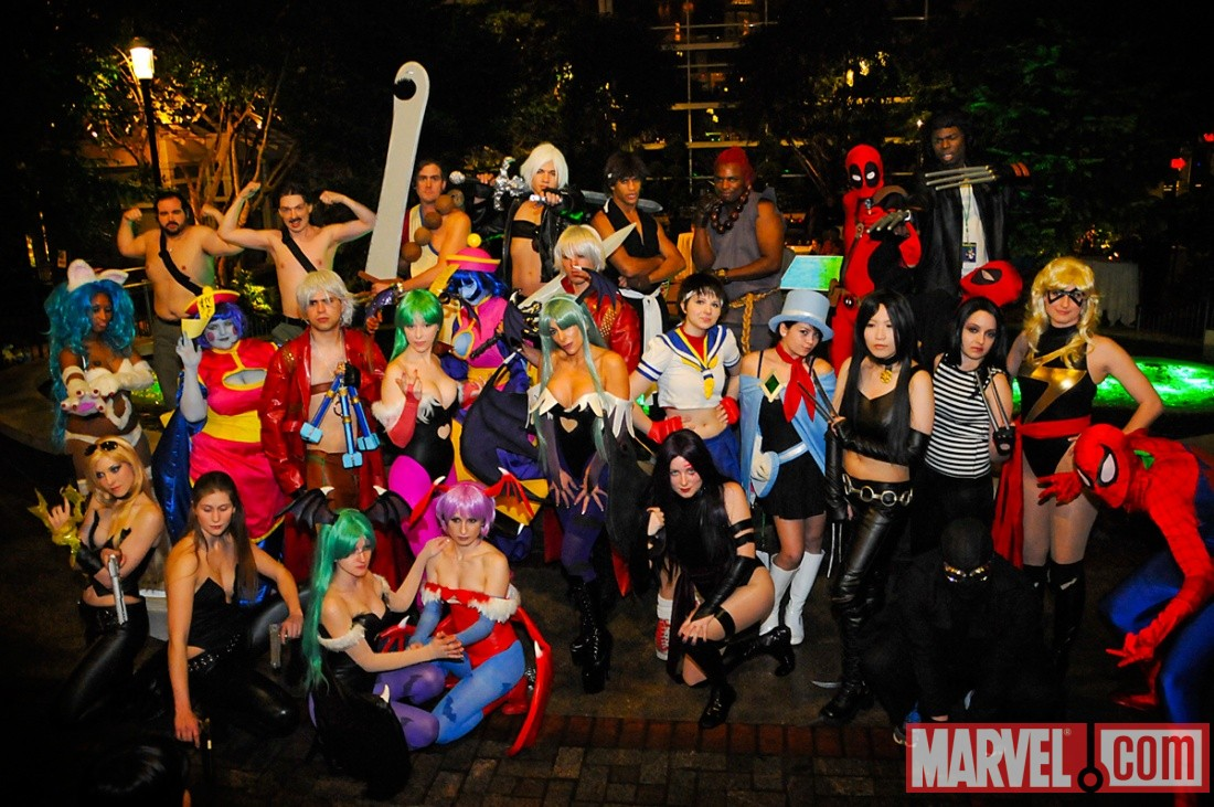 Marvel vs Capcom 3 cosplayers