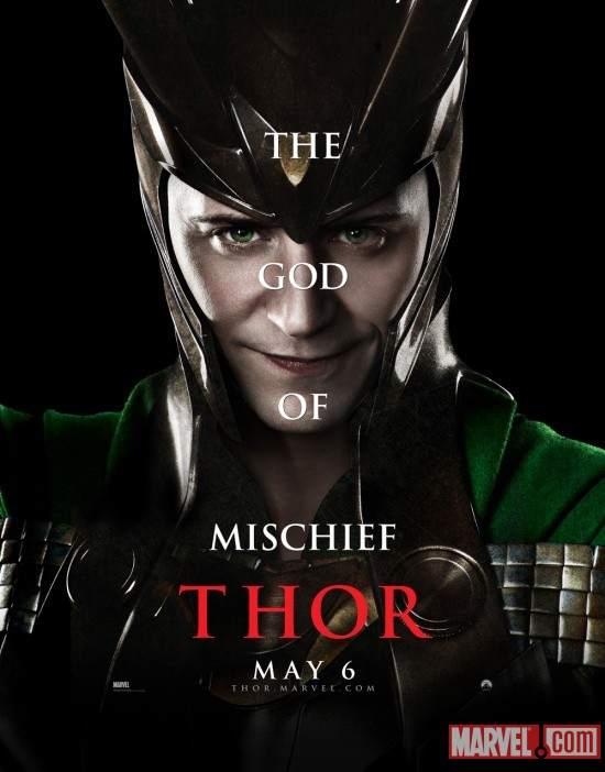 Loki character one-sheet from Thor