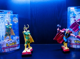Monogram International Marvel Thor and Loki figures