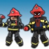 Spider-Man Firefighter Pack, NYCC 2011 exclusive Minimates from Diamond Select Toys