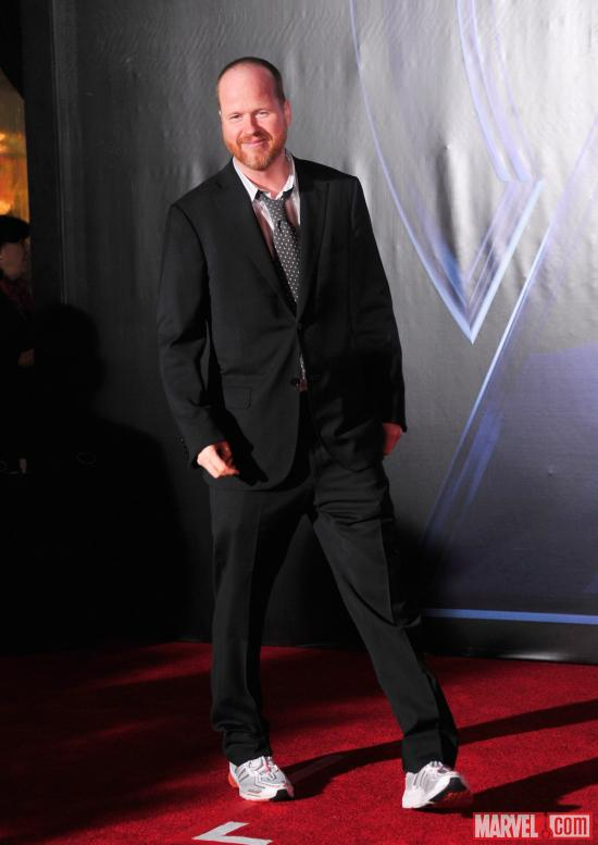 Director and Writer Joss Whedon on the Avengers red carpet