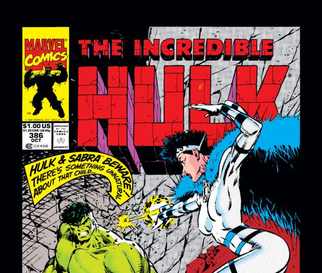 Incredible Hulk (1962) #386 Cover