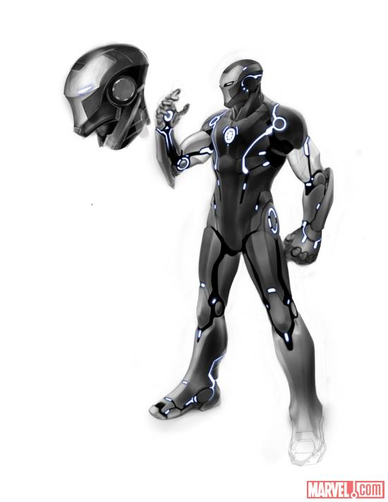 Iron Man stealth suit design by Carlo Pagulayan