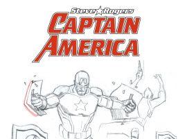 Captain America: Steve Rogers design by Daniel Acuna