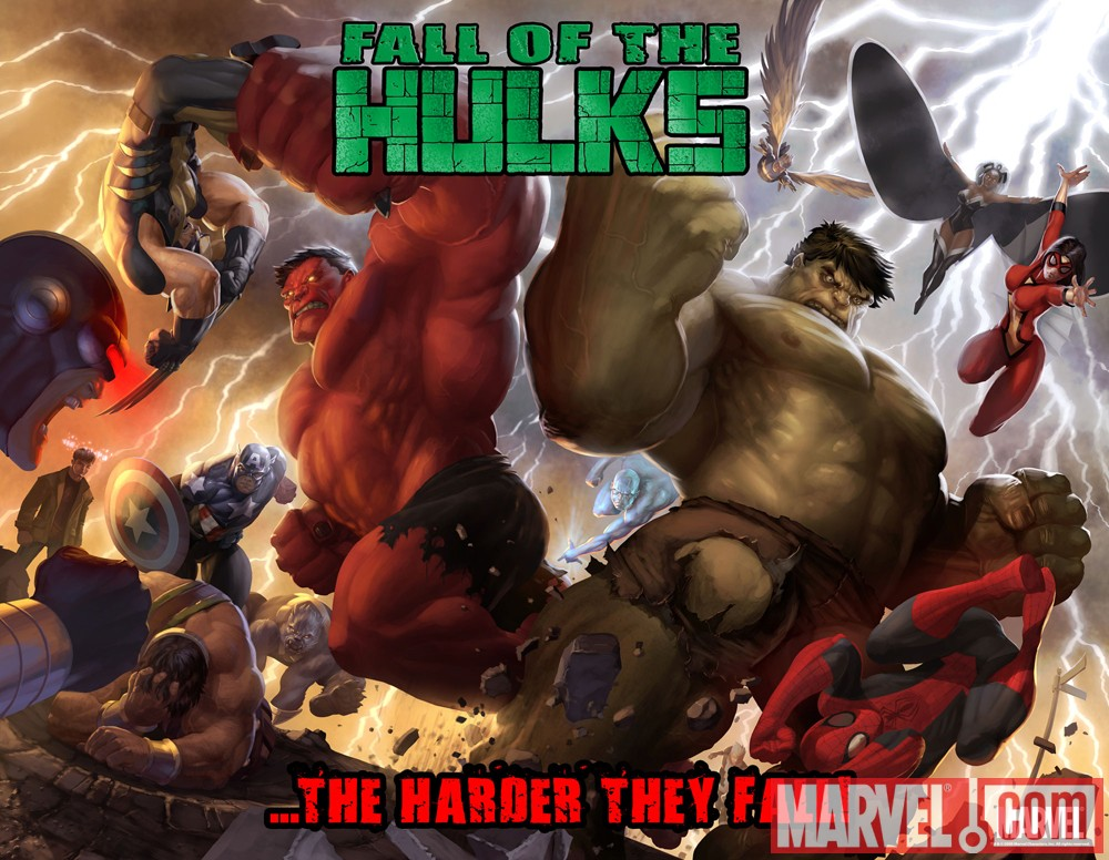 Image Featuring Red Hulk, Avengers, Hulk