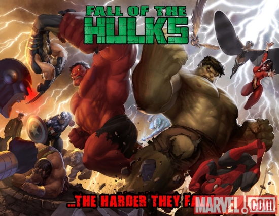 Image Featuring X-Men, Red Hulk, Avengers