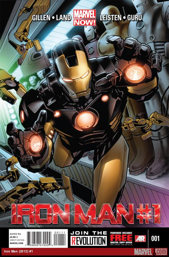 Iron Man (2012) #1 cover by Greg Land