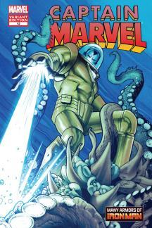 Captain Marvel #12  (Land Iron Man Many Armors Variant)