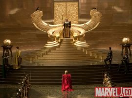 Odin's throne room from the Thor film