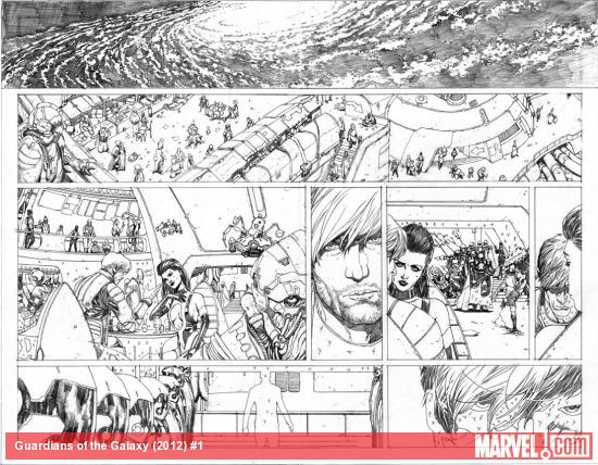 Guardians of the Galaxy (2013) #1 preview pencils by Steve McNiven