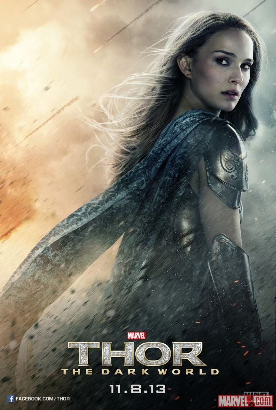 Jane Foster character poster from Marvel's Thor: The Dark World