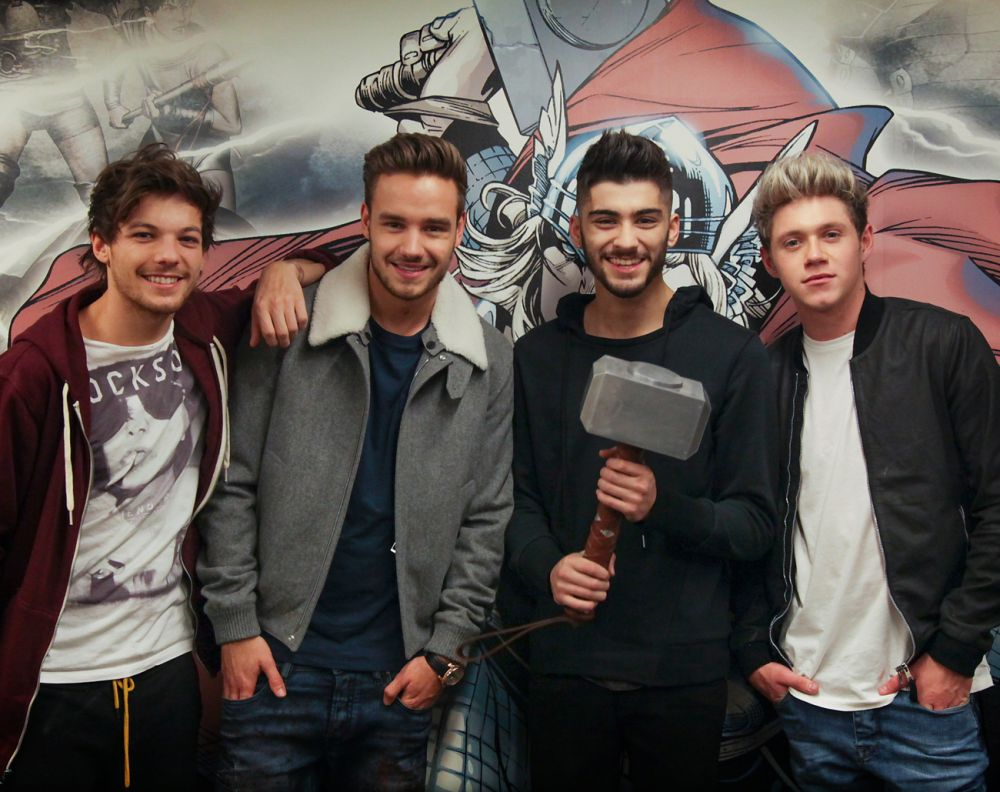 One Direction Visits Marvel