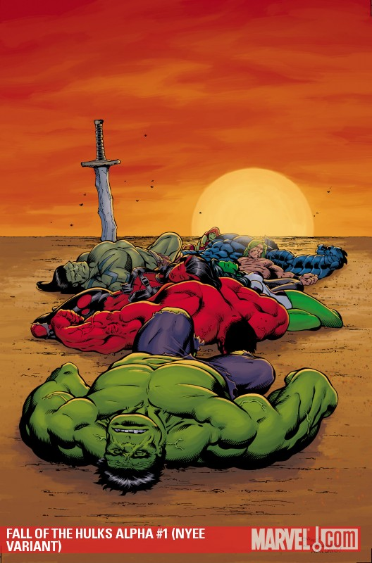 Fall of the Hulks Alpha (2009) #1 (NYEE VARIANT)
