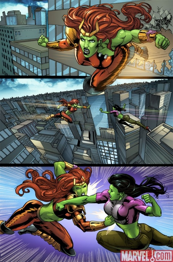 ALL-NEW SAVAGE SHE-HULK #2 preview art by Peter Vale