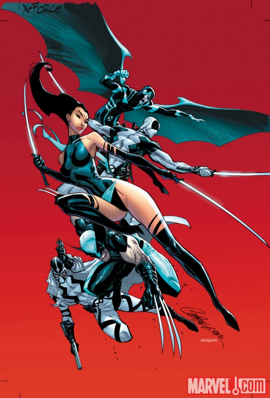 Image Featuring Deadpool, Fantomex, Psylocke, Wolverine, X-Force