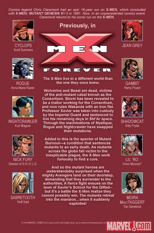 X-MEN FOREVER 2 #2 recap page
