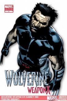 Wolverine Weapon X (2009) #1 (GARNEY 2ND PRINTING VARIANT)