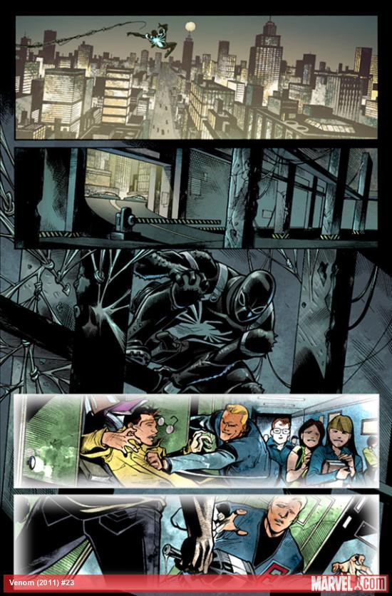 Venom #23 preview art by Thony Silas