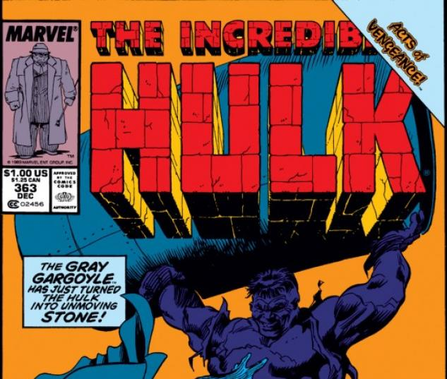 INCREDIBLE HULK #363 COVER