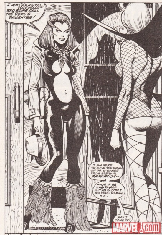 David Lapham's first glimpse of Satana