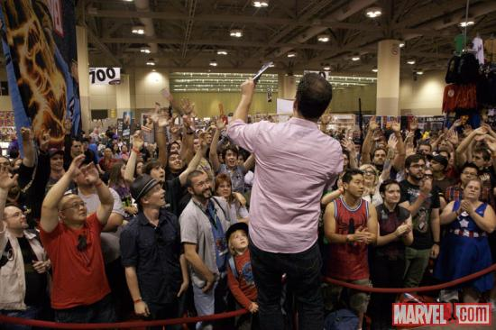 Stephen Wacker at the Marvel booth at Fan Expo 2012