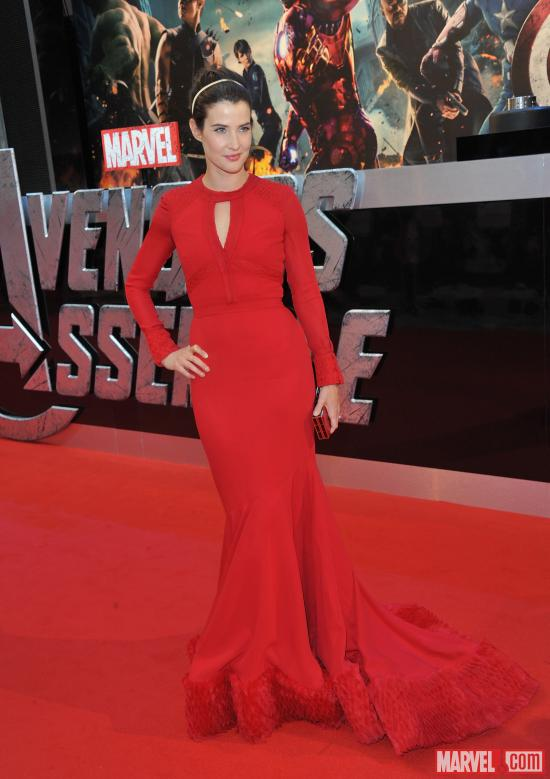 "Cobie Smulders at the London premiere of ""Marvel's The Avengers"""