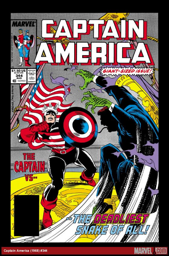 Captain America (1968) #344 Cover