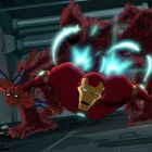 Spider-Man and Iron Man team up against Swarm in Marvel's Ultimate Spider-Man