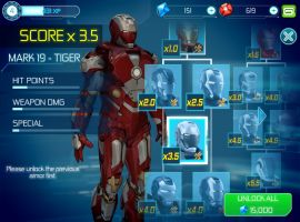 The Mark 19 Tiger suit from Iron Man 3 - The Official Game