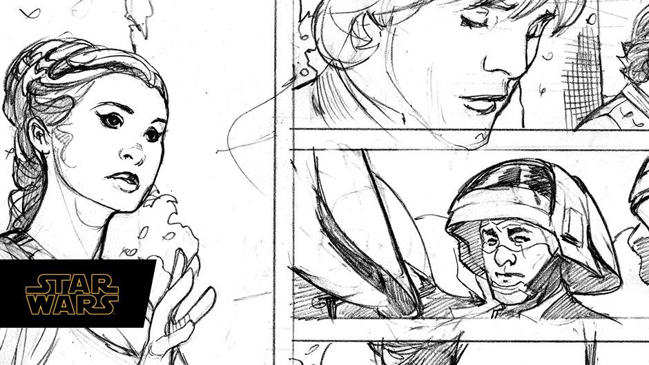 Princess Leia #1 preview pencils by Terry Dodson