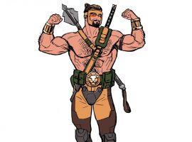 Hercules sketch art by Luke Ross