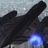 Screenshot of the X-Men's Blackbird in the Wolverine anime