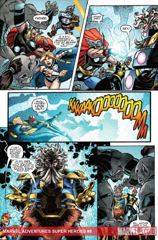 MARVEL ADVENTURES SUPER HEROES #8 preview page by Scott Koblish