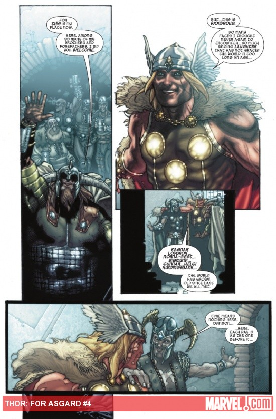 THOR: FOR ASGARD #4 preview page by Simone Bianchi