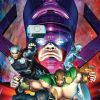 Image Featuring Galactus, Hercules (Heracles), Silver Surfer, Thor, Sersi, Venus (Siren)