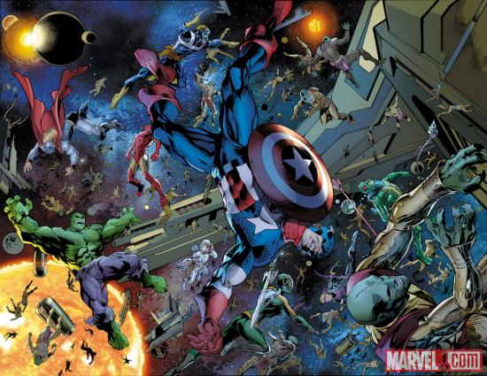 Avengers Assemple #7 preview art by Mark Bagley