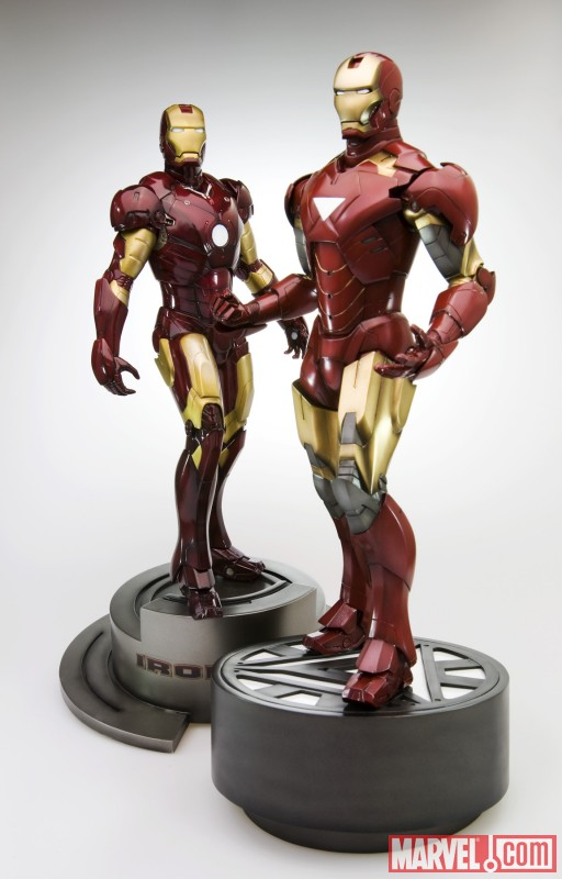 Iron Man Movie Mark VI  and Mark III Fine Art Statues from Kotobukiya