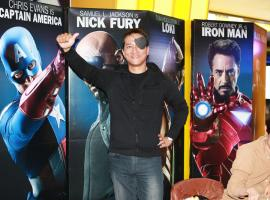 This fan came as S.H.I.E.L.D. Director Nick Fury during a special 'Marvel's The Avengers' event in Seoul