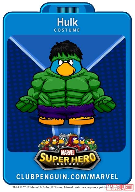 Hulk suit from Club Penguin