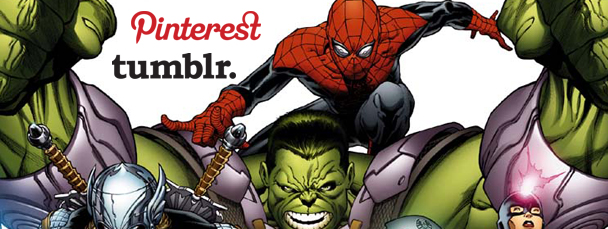Marvel Unveils Pinterest and Tumblr Accounts