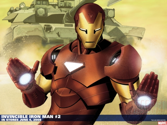 Invincible Iron Man (2008) #2 (PETERSON (50/50 COVER)) Wallpaper