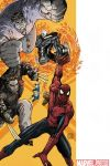SPIDER-MAN/FANTASTIC FOUR #3 cover art by Mario Alberti