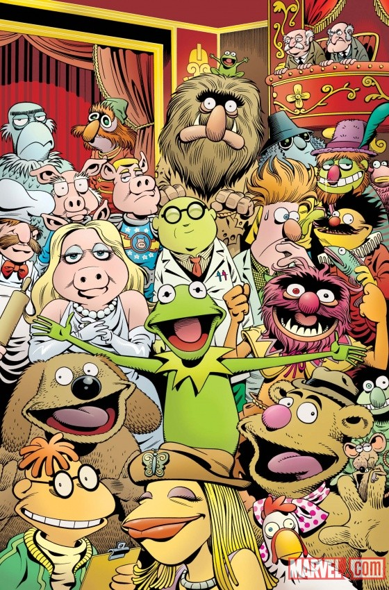 DISNEYMUPPETS PRESENTS Comic cover art by Roger Langridge 