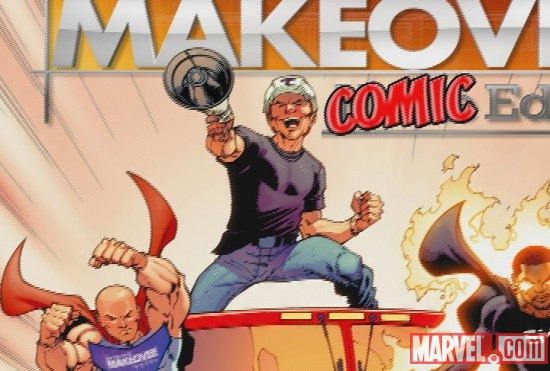 Extreme Makeover: Home Edition art created by Marvel Custom Solutions and Todd Nauck