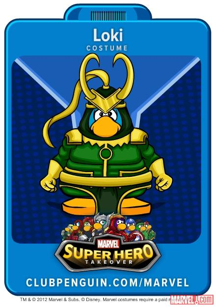 Loki suit from Club Penguin