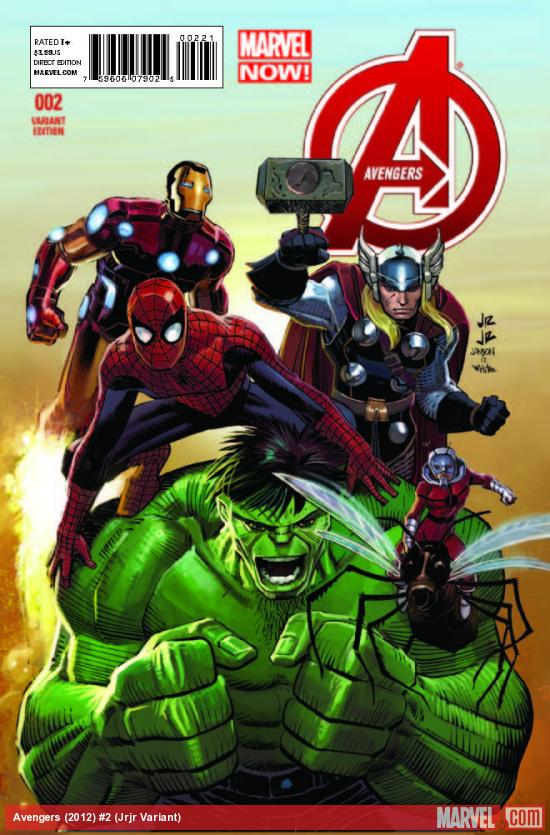 AVENGERS 2 JRJR VARIANT (NOW, 1 FOR 50, WITH DIGITAL CODE)